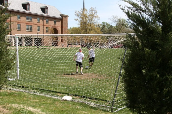 Playing soccer at W&M