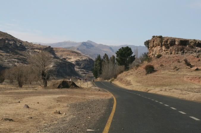 Highway in Lesotho