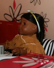 Kaya at the table